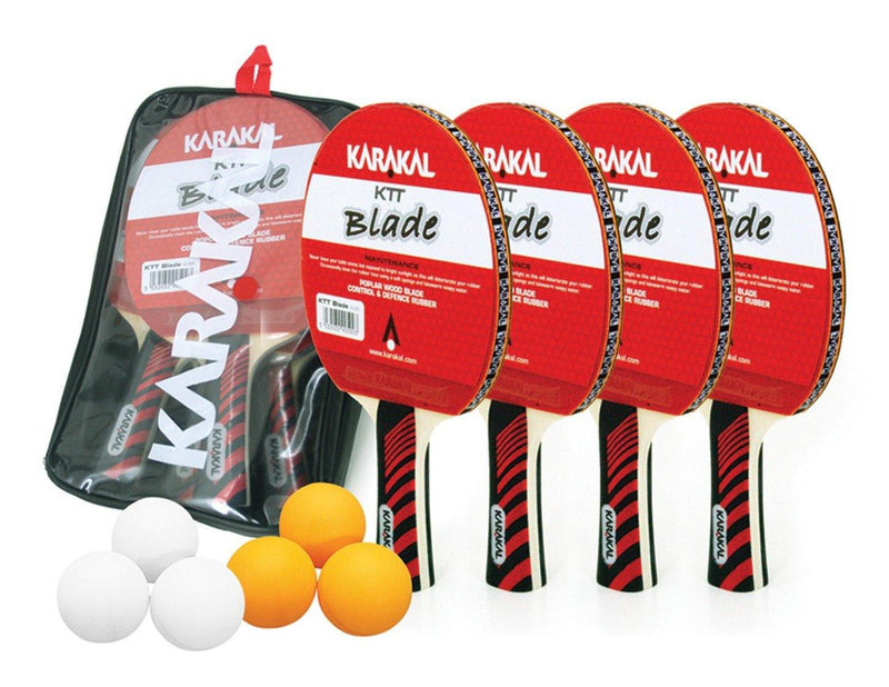 Karakal 4 Bat, 6 Ball Table Tennis Set - FluxSports.co.uk