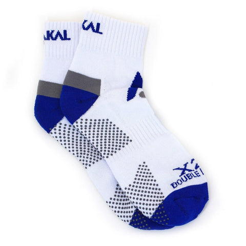 Karakal X2+ Mens Ankle Socks - White and Blue - FluxSports.co.uk