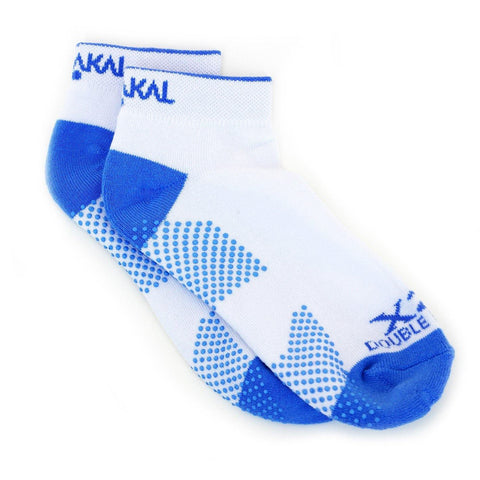 Karakal X2+ Ladies Trainer Socks - White and Blue - FluxSports.co.uk