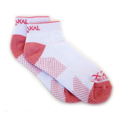 Karakal X2+ Ladies Trainer Socks - White and Pink - FluxSports.co.uk