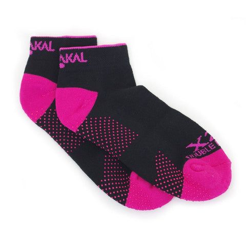 Karakal X2+ Ladies Trainer Socks - Black and Pink