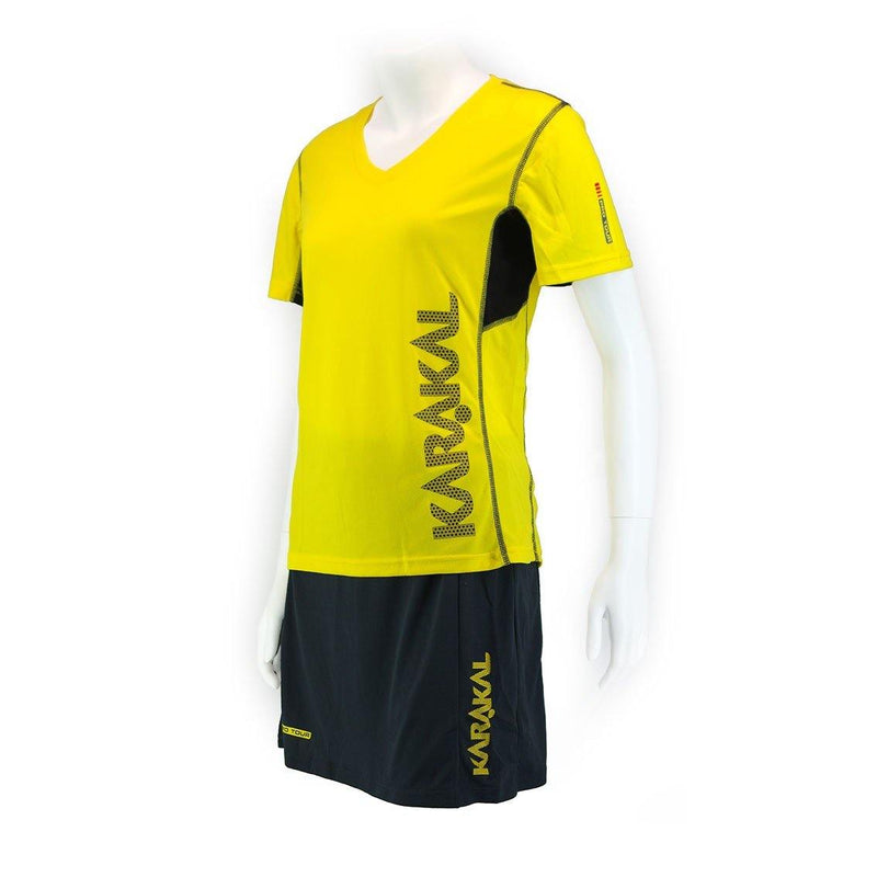 Karakal Pro Tour Lady Tee Yellow - FluxSports.co.uk