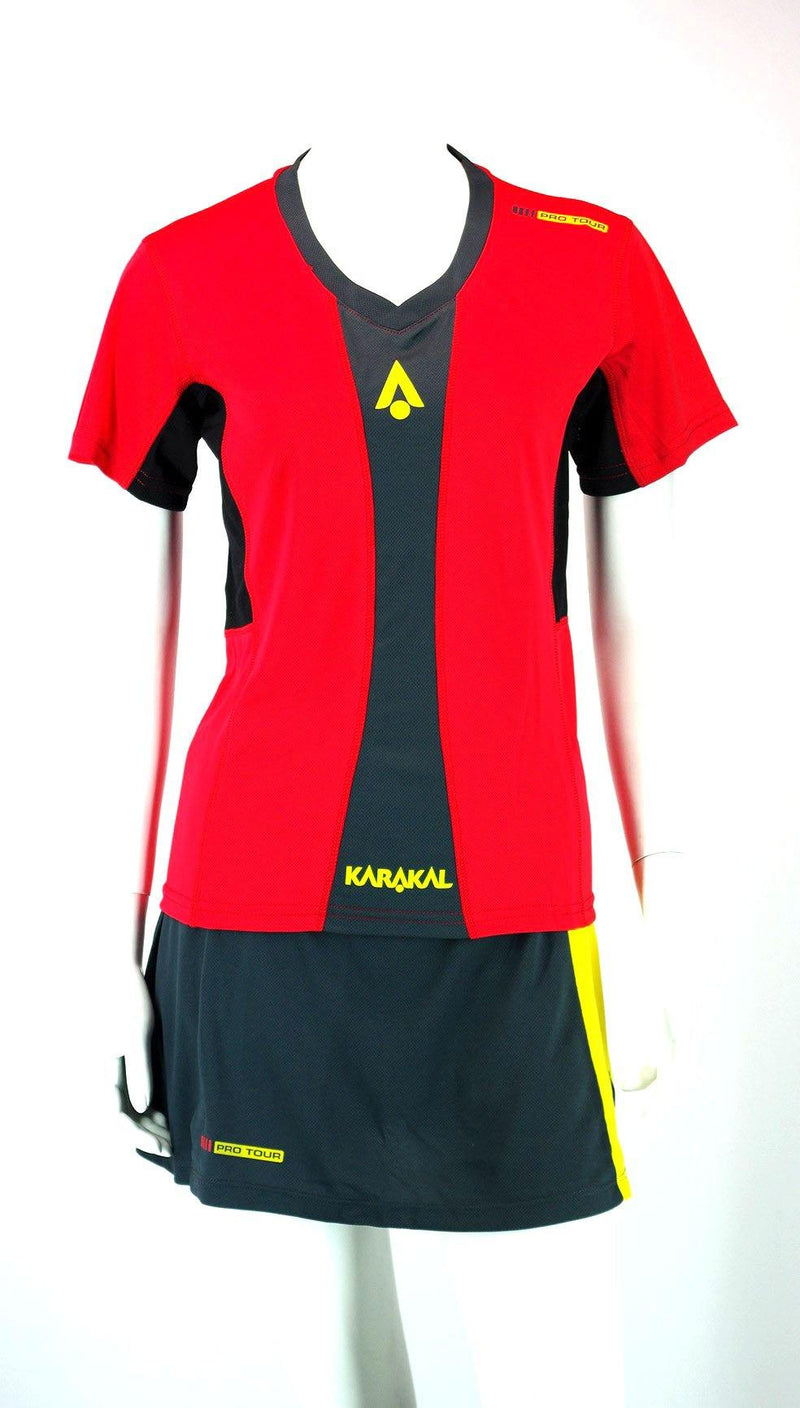 Karakal Pro Tour Lady Tee Red - FluxSports.co.uk