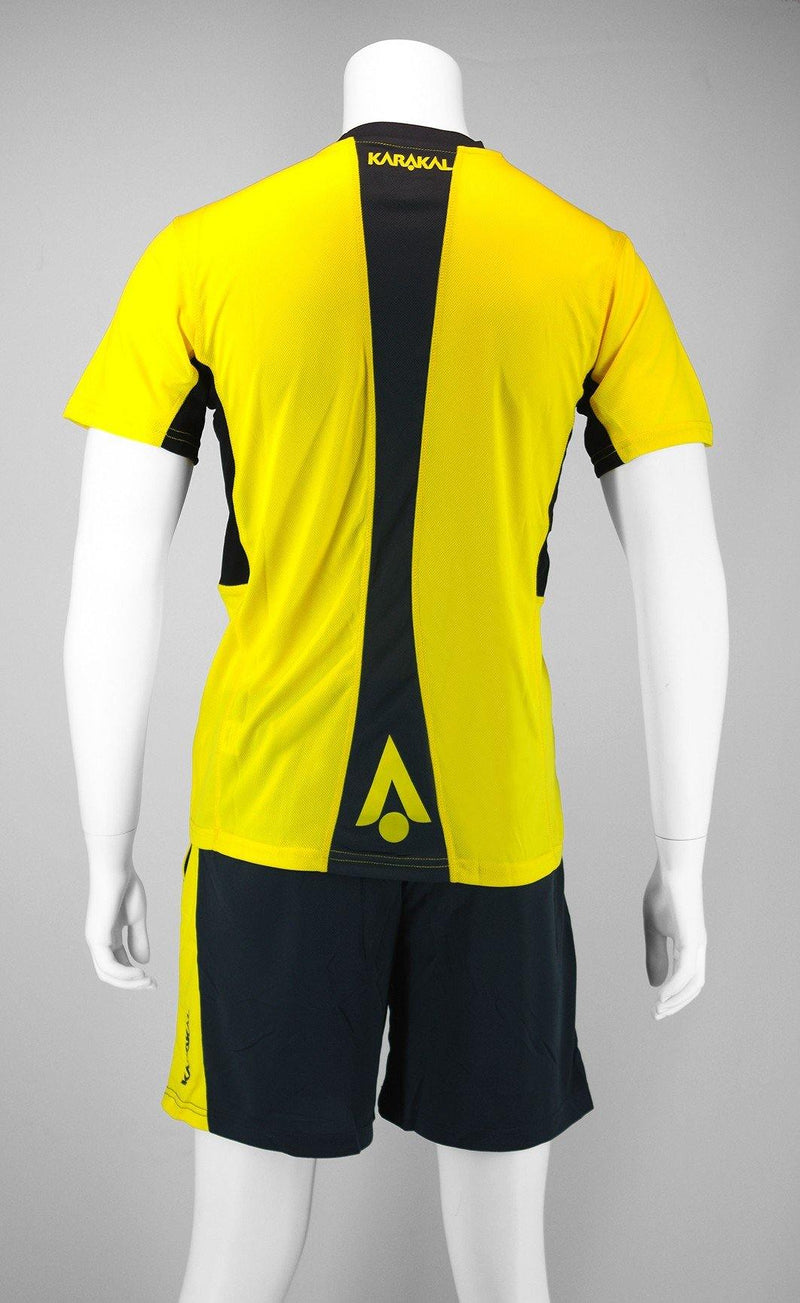 Karakal Pro Tour Tee Yellow - FluxSports.co.uk