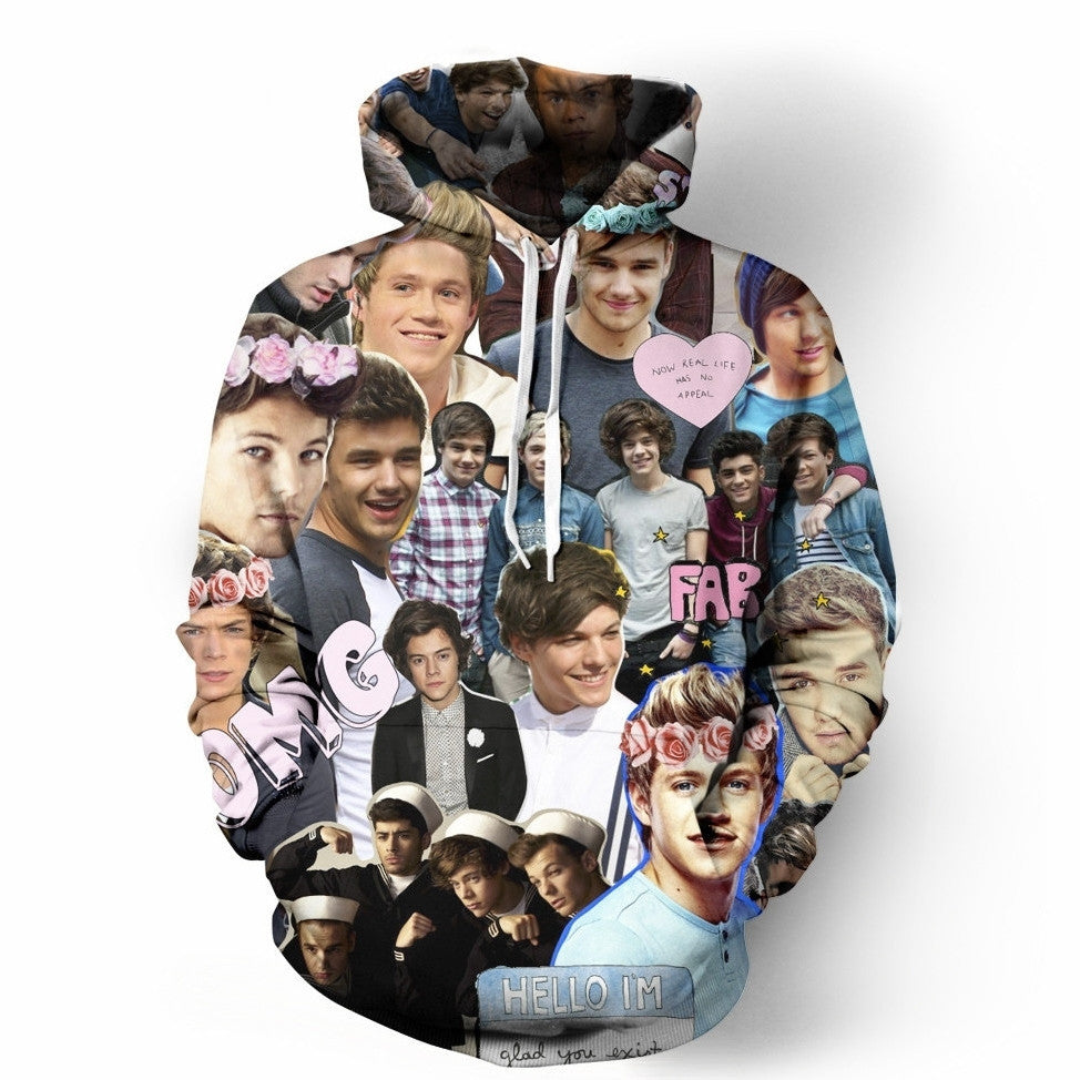 One Direction ASF Collage Hoodie
