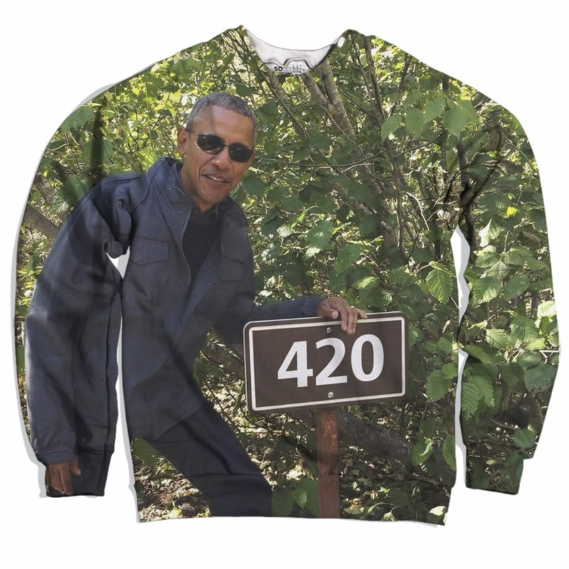 Obama Loves 420 Sweater