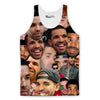 Drake Collage Tank Top-Meme-SoScribbly