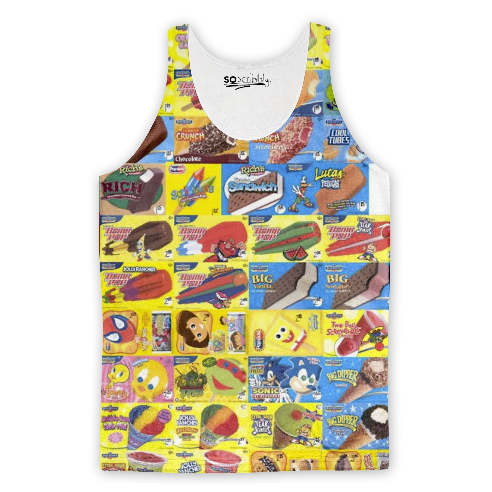 Ice Cream Truck Menu Tank Top