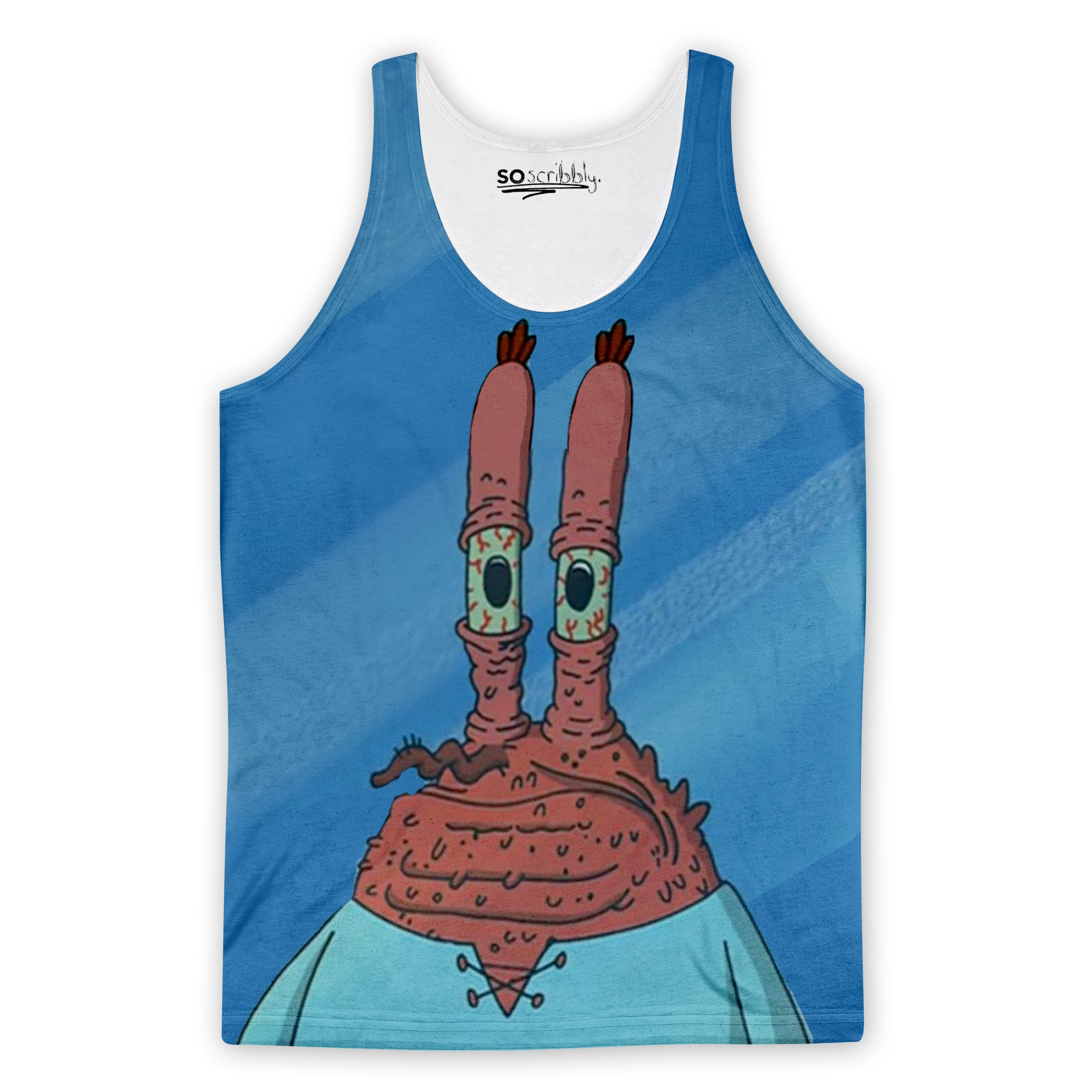 Mr. Krabs Looking Old Tank Top