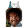 Bob Ross's Face Tank Top-Meme-SoScribbly