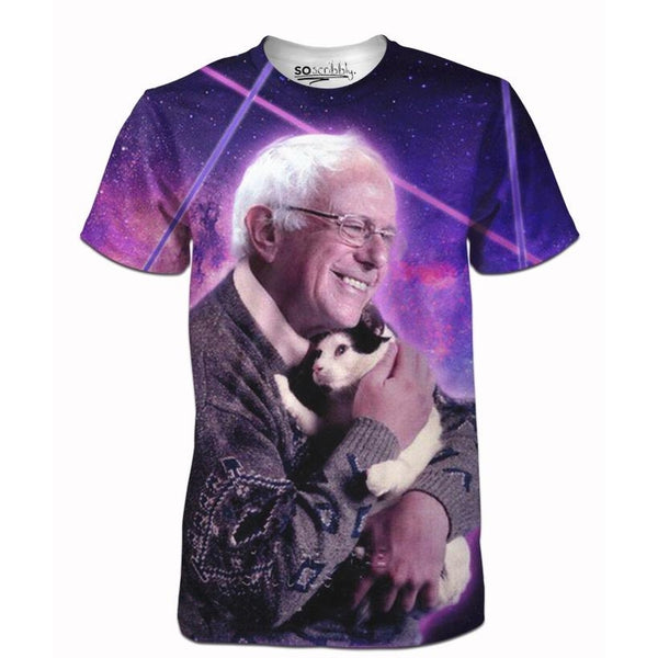 Bernie Sanders Loves Cats Tee