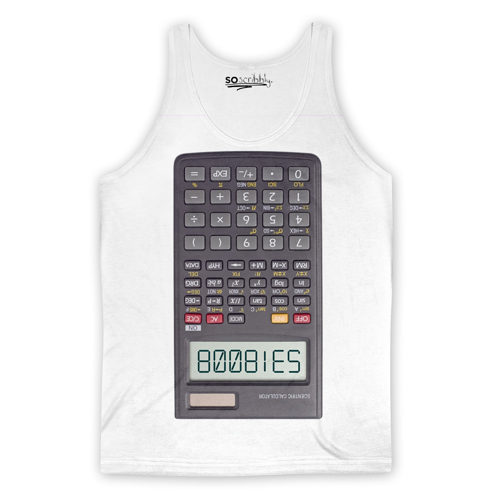 Boobies Calculator Tank Top