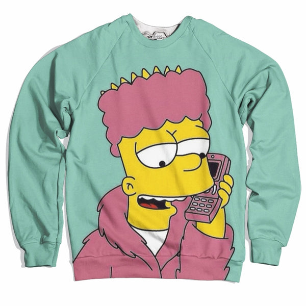 Pink Fur Bart Sweater