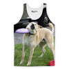 This Dog Loves Frisbees Tank Top-Meme-SoScribbly