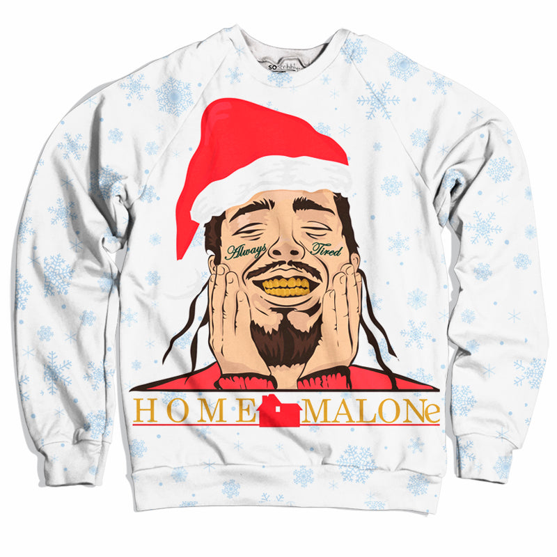Home Malone Christmas Sweater Soscribbly