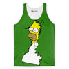 Homer Simpson Bushes Tank Top-Meme-SoScribbly