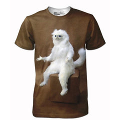 Confused Persian Cat Tee