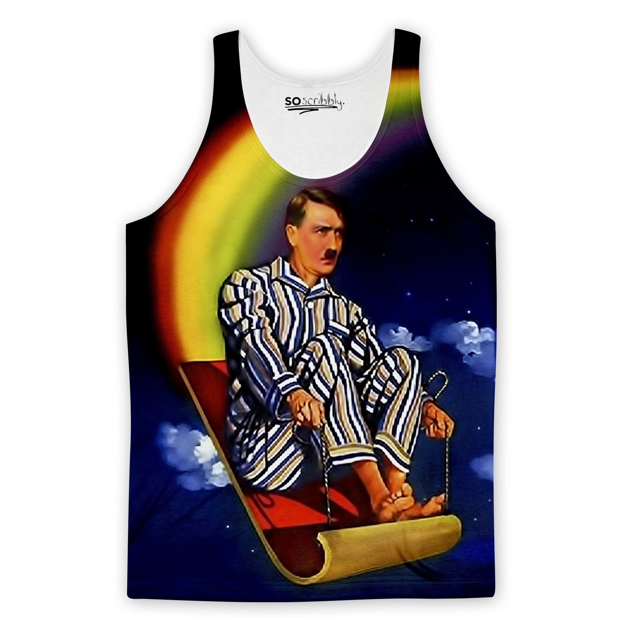 Rainbow Sledding Hitler Tank Top