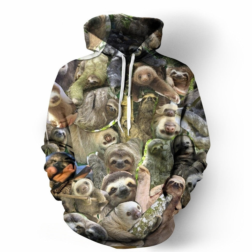 The Sloth Collage Hoodie