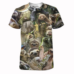 The Sloth Collage Tee