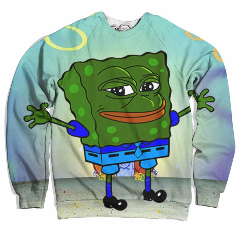 Spongebob Pepe Pants Sweater