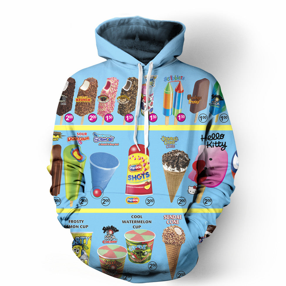 obsessed with the ice cream truck hoodie soscribbly