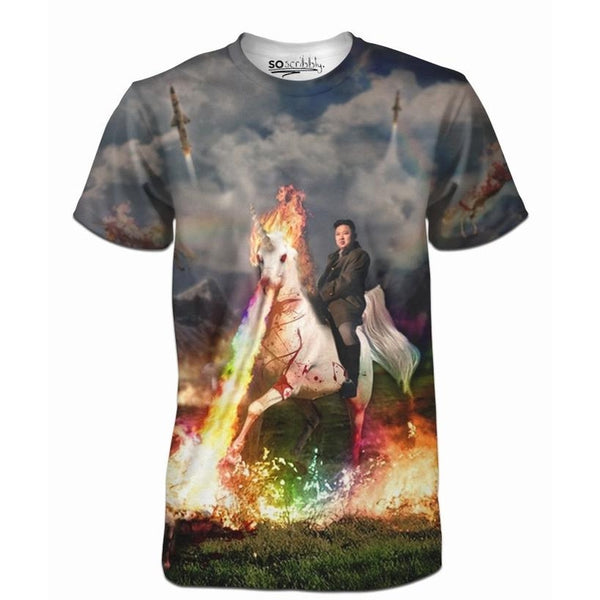 Kim Jong Unicorn Attack Tee