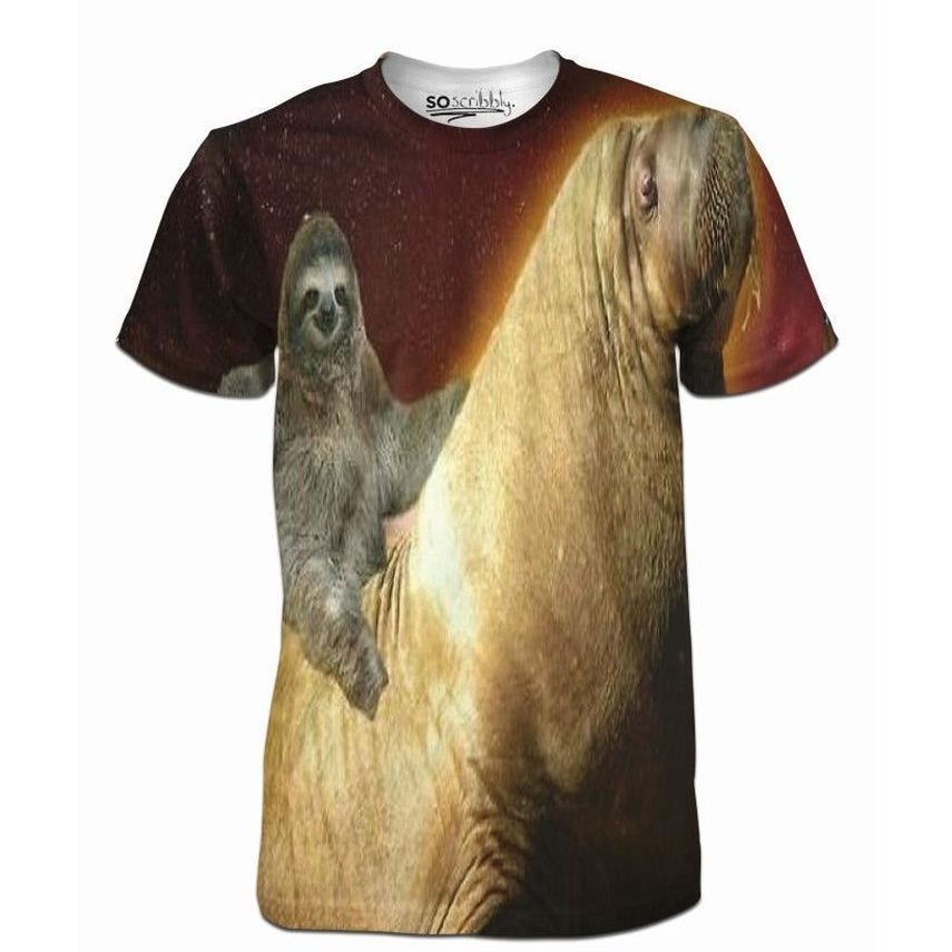 Sloth Riding Walrus Tee