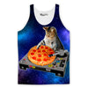The Pizzalicious Space Cat DJ Tank Top-Meme-SoScribbly