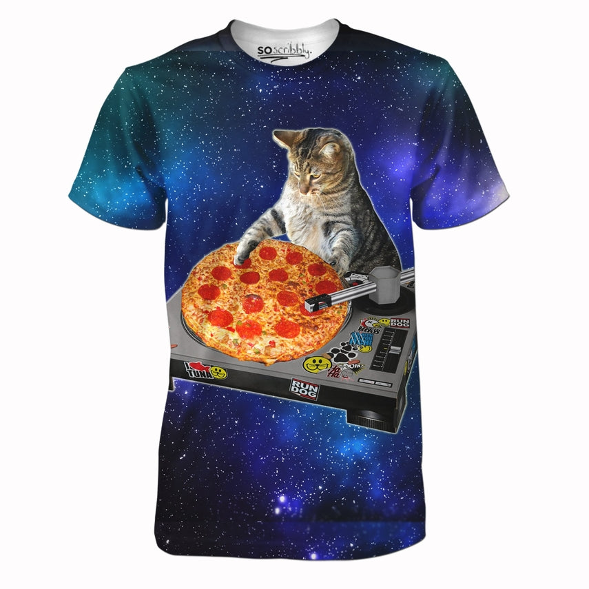 The Pizzalicious Space Cat DJ Tee – SoScribbly