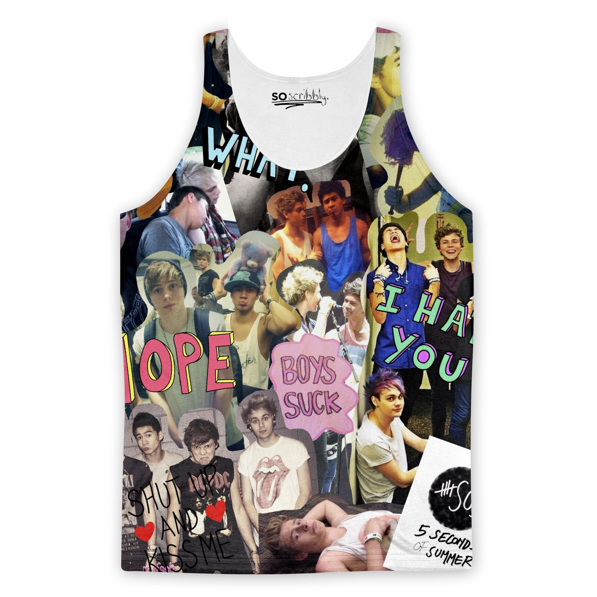 5 Seconds Of Summer Addict Tank Top