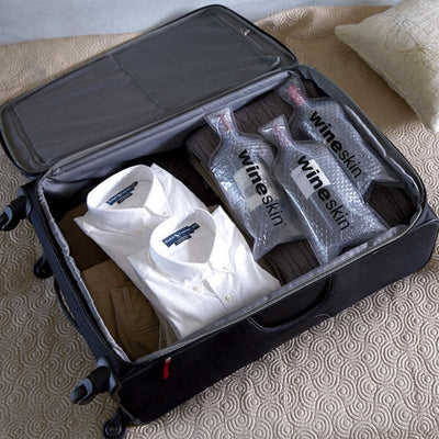 WineSkin Wine/Champagne Bottle Protector Travel Bag - Single Use