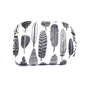 Mamma-pillo ECO Grey and White Feathers Additional Cover