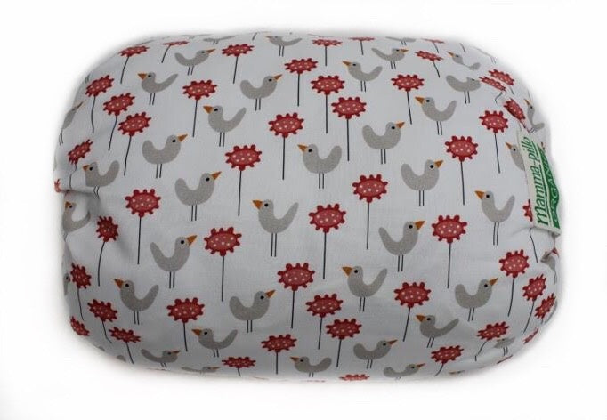 Mamma-pillo Organic Red Bird Garden Additional Cover