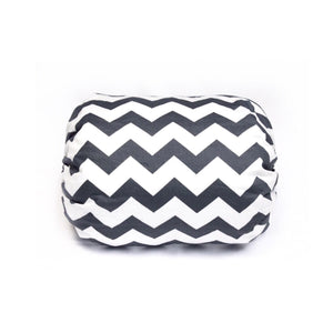 Mamma-pillo ECO Grey and White Chevron