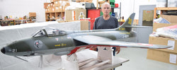 TopRCModel Hawker Hunter Scale RC Jet 95