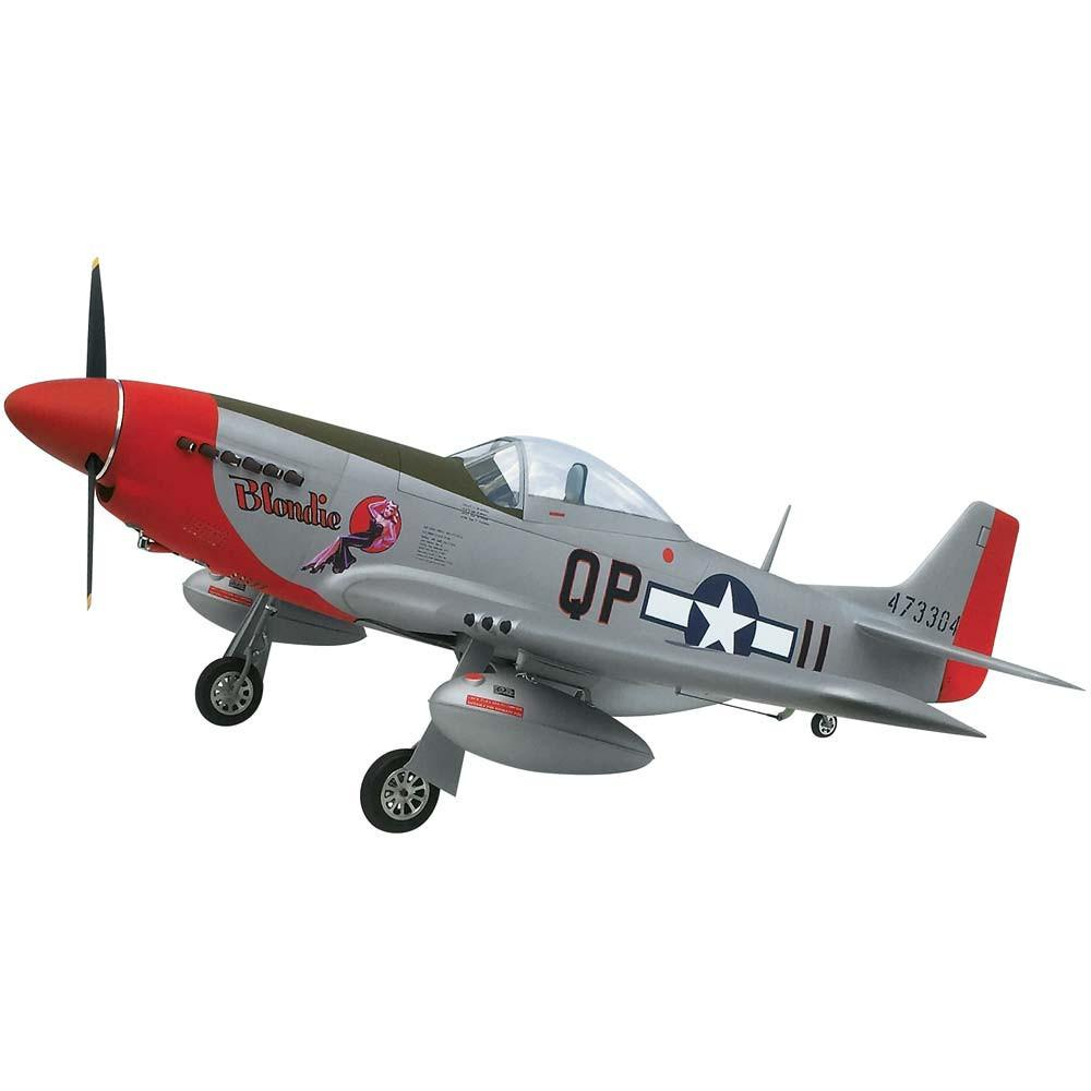 P-51D Mustang, Scale RC Plane (Silver Paint)