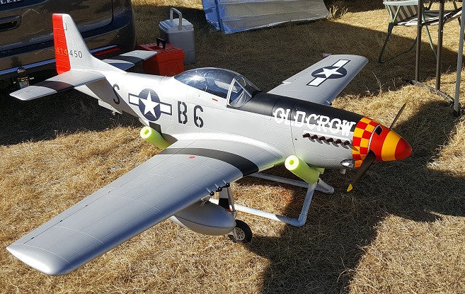 P-51D 2 Bladed Painted/ Aluminum Spinner (Old Crow)