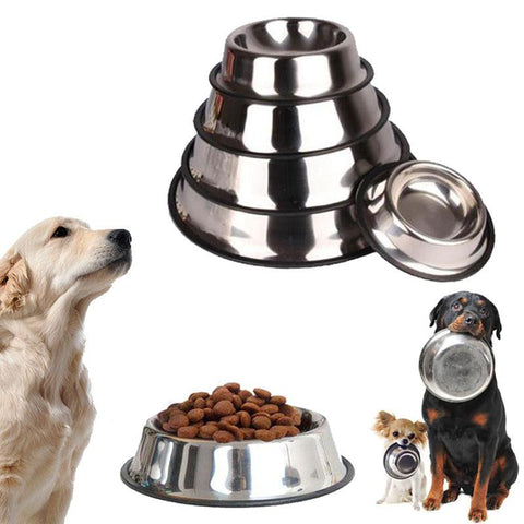 15cm stainless steel pet dog puppy anti slip feeding feeder food
