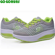 Breathable swing platform ladies trainers shoes
