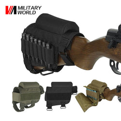 Tactical Rifle Shotgun Buttstock Ammo Cartridges Holder