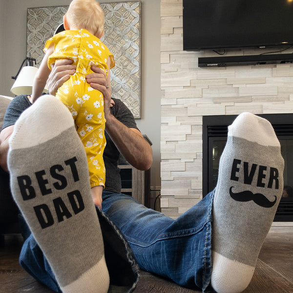 Best Dad - Ever Lumberjack Socks - Sock Dirty To Me