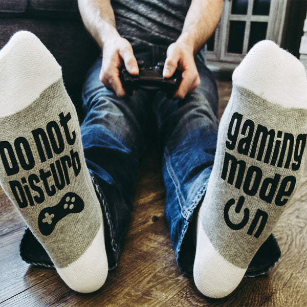 Gaming Mode On - Do Not Disturb Lumberjack Socks - Sock Dirty To Me