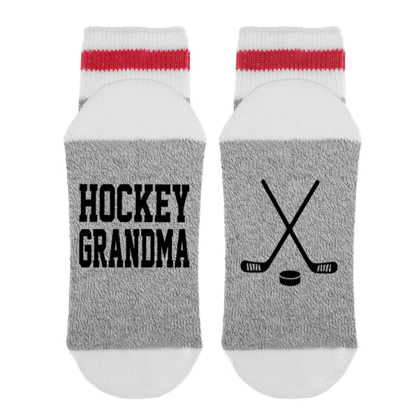 Hockey Grandma HOCKEY STICKS Lumberjack Socks - Sock Dirty To Me