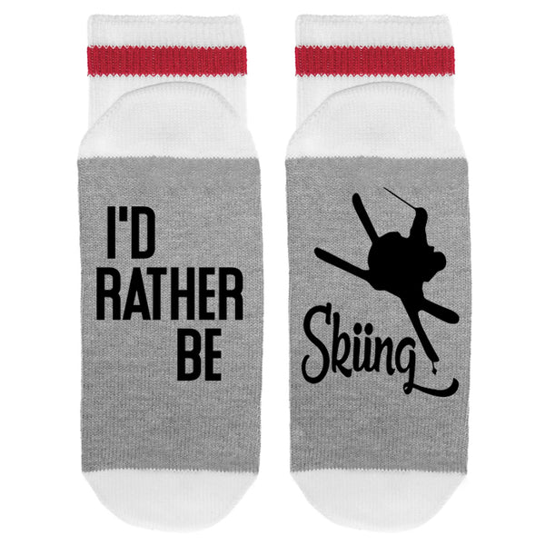 I'd Rather Be Skiing Lumberjack Socks - Sock Dirty To Me