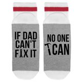 If Dad Can't Fix It No One Can Lumberjack Socks - Sock Dirty To Me