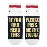If You Can Read This Please Pass Me The Tequila Lumberjack Socks - Sock Dirty To Me