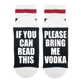 If You Can Read This Please Bring Me Vodka Lumberjack Socks - Sock Dirty To Me