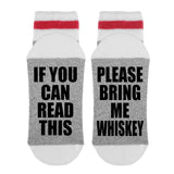 If You Can Read This Please Bring Me Whiskey Lumberjack Socks - Sock Dirty To Me