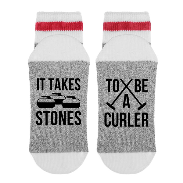 It Takes Stones To Be A Curler Lumberjack Socks - Sock Dirty To Me